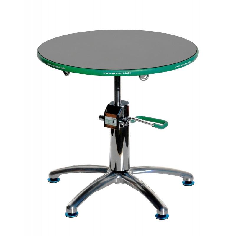 Hydraulic Lift Bonsai Turntable Green-T Basic Round