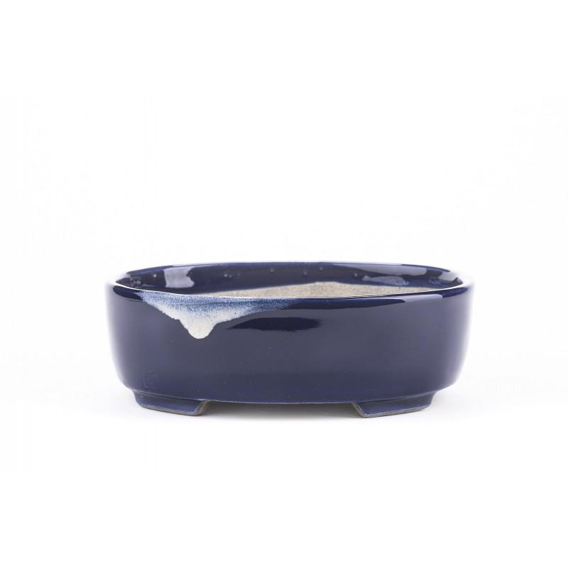 Terahata Satomi Bonsai Pot 6B-06 BLUE
